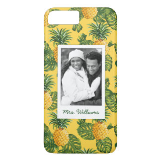 Pineapples & Leaves | Add Your Photo & Name iPhone 8 Plus/7 Plus Case
