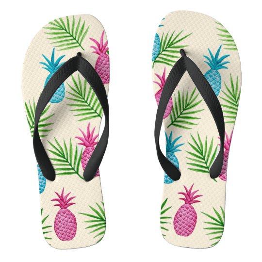 fd8e14e50da7 Pineapples n Palms Tropical Fruit Flip Flops