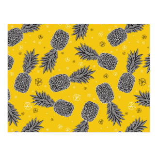 Pineapples On Gold 2 Postcard