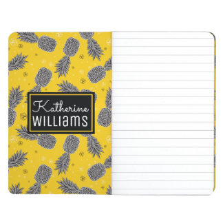 Pineapples On Gold | Add Your Name Journals