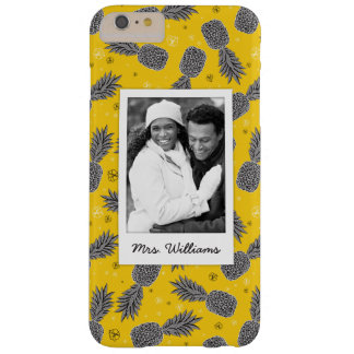 Pineapples On Gold | Add Your Photo & Name Barely There iPhone 6 Plus Case