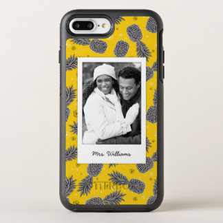 Pineapples On Gold | Add Your Photo & Name OtterBox Symmetry iPhone 8 Plus/7 Plus Case