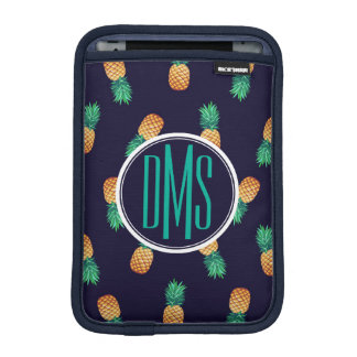 Pineapples On Navy | Monogram iPad Mini Sleeve