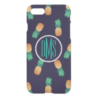 Pineapples On Navy | Monogram iPhone 8/7 Case
