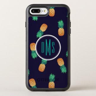 Pineapples On Navy | Monogram OtterBox Symmetry iPhone 8 Plus/7 Plus Case