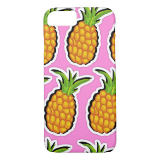 Pineapples on Pink iPhone 8/7 Case