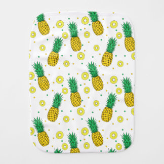 Pineapples pattern burp cloths