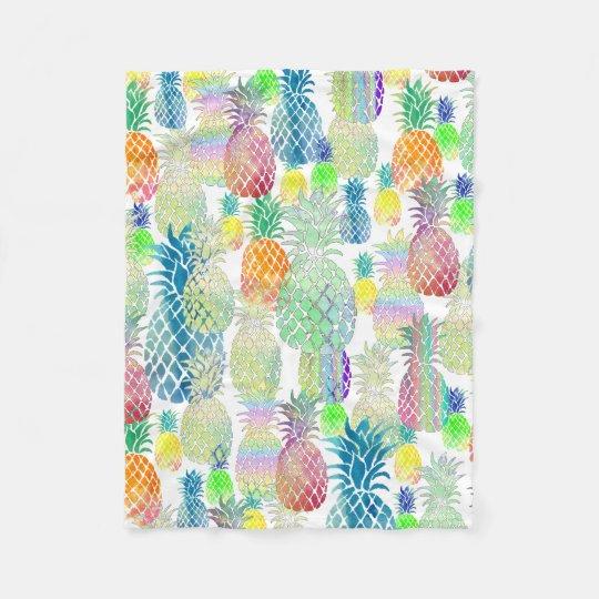 pineapples pattern fleece blanket