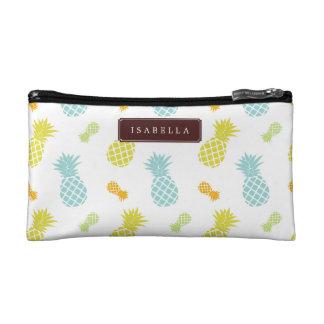 Pineapples Pattern Makeup Bag