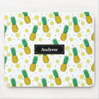 Pineapples pattern mouse mat