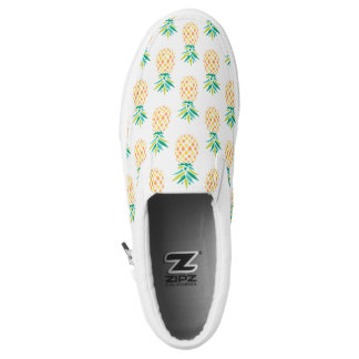 Pineapples Pattern Slip-On Shoes