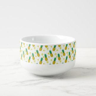 Pineapples pattern soup mug