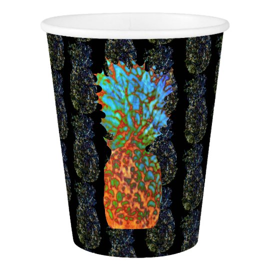 Pineapples Patterned Paper Cup