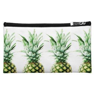 Pineapples print medium cosmetic bag