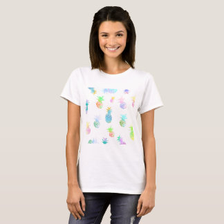 Pineapples T-Shirt Tropical Happy Pineapples Fruit