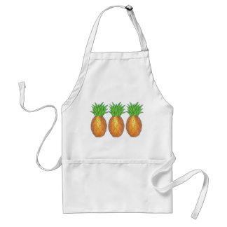 Pineapples Tropical Fruit Hawaiian Pineapple Apron