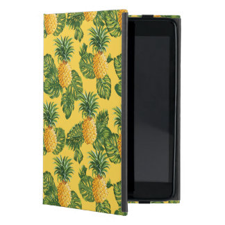 Pineapples & Tropical Leaves On Gold Case For iPad Mini