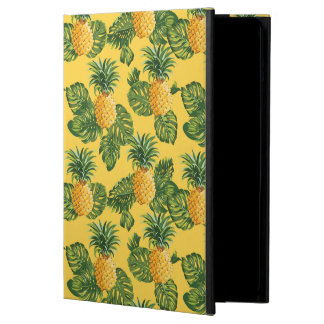 Pineapples & Tropical Leaves On Gold iPad Air Case