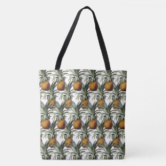 Pineapples White Background Tote Bag