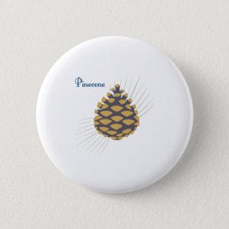 Pinecone 6 Cm Round Badge
