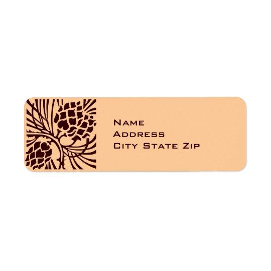 Pinecone Address Return Address Label