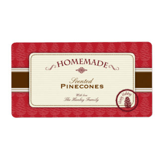 Pinecone Homemade Labels Large