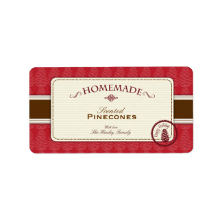 Pinecone Homemade Labels Medium