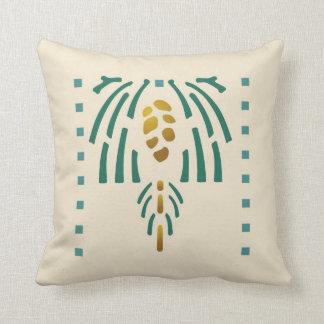Pinecone Stencil Throw Pillow