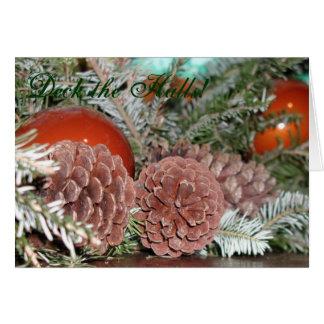 Pinecones at Christmas Card