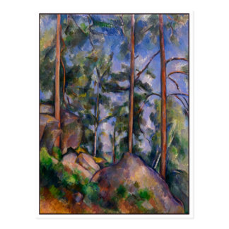 Pines and Rocks by Cezanne Postcard