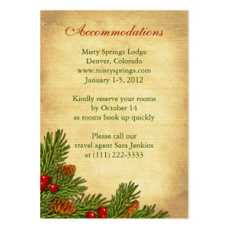 Pines Boughs Holiday Winter Wedding Insert Cards Pack Of Chubby Business Cards
