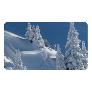 Pines Covered with Snow Pack Of Standard Business Cards