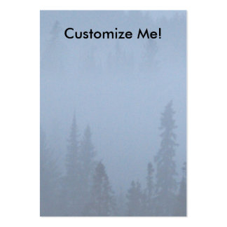 Pines in Fog Pack Of Chubby Business Cards
