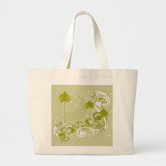 Pines with Moon-Customize Change BackGround Color Jumbo Tote Bag