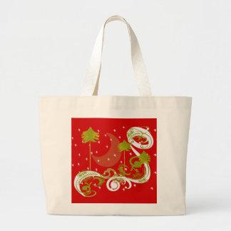 Pines with Moon- Jumbo Tote Bag