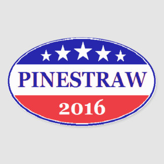 PINESTRAW 4 President 2016 Election Oval Sticker