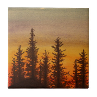Pinetree Sunset Tile