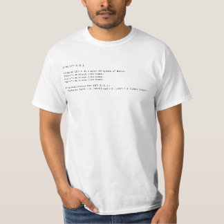 Ping 127.0.0.1, there's no place like home. T-Shirt