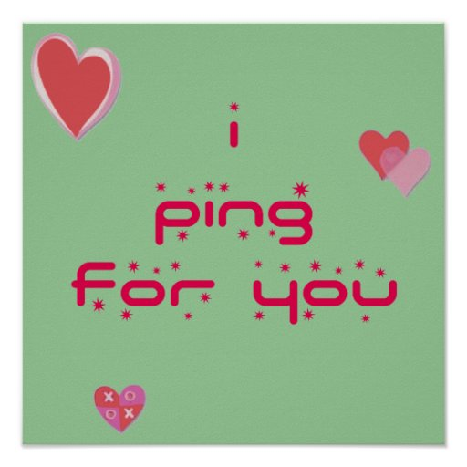 Ping For You Ping Pong Print
