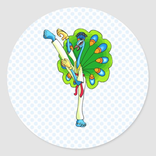 Ping Peacock Sticker