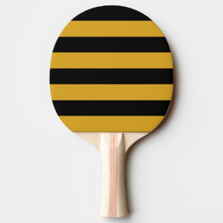 Ping Ping Paddle - Black & Goldenrod Horizontal