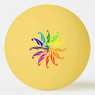 Ping Pong Ball - Color Wheel Leaves