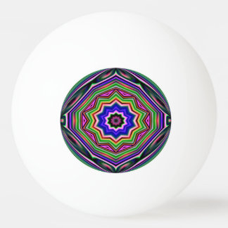 Ping Pong Ball - multicoloured geometric abstract