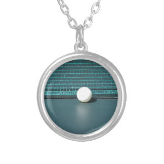Ping Pong Ball Silver Plated Necklace