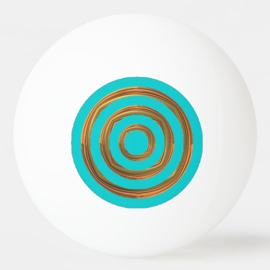 Ping Pong Ball - Turquoise & Rough Gold