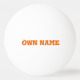 Ping Pong Ball wit own name