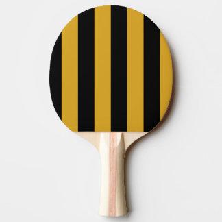 Ping Pong Bat/Paddle - Black and Golden Rod Ping Pong Paddle