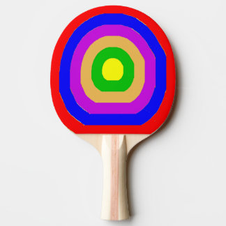 Ping Pong Bat / Paddle - Coloured Rings