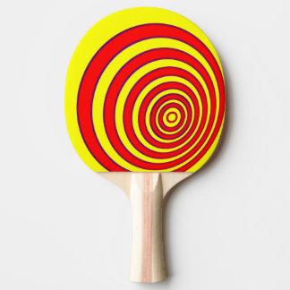 Ping Pong Bat / Paddle - Offset Circles