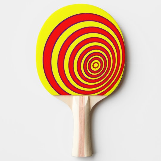 Ping Pong Bat / Paddle - Offset Circles